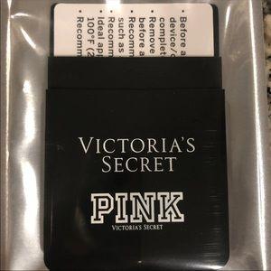 NWT VS Pink stick on card slot